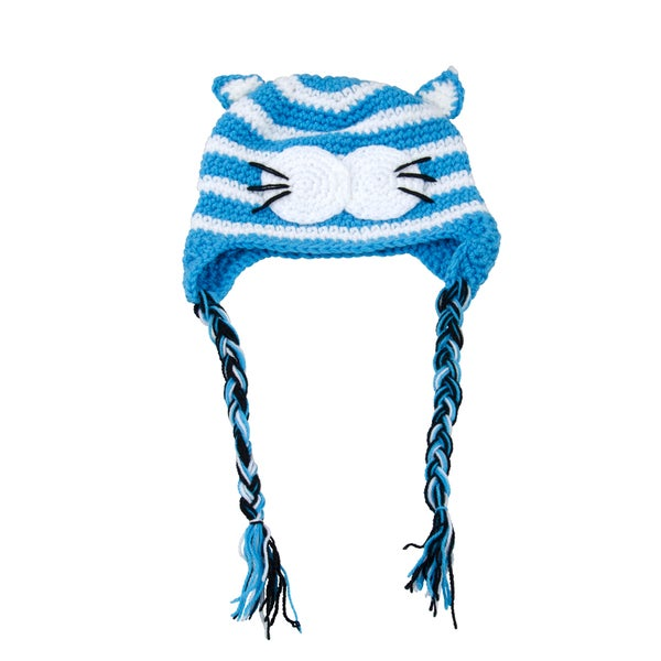 Blue Cat Earflap Hat for Toddler and kid