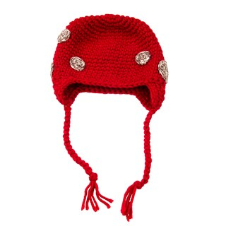 Red with Brown Spots Earflap Hat for Toddler and Kid