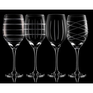 Fifth Avenue Crystal Medallion Wine Goblets (4- or 8-Pack)