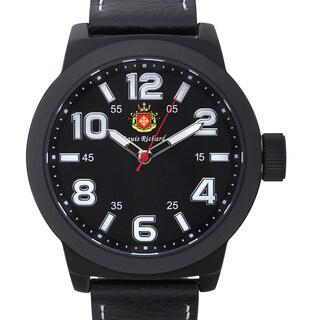 Louis Richard Men's Rockfleet Watch with Black Genuine Leather Strap