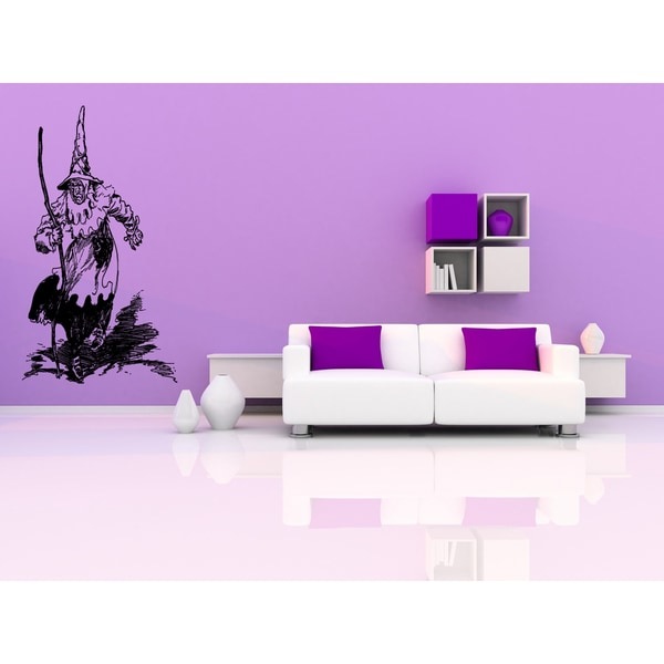 The wizard goes on a footpath Wall Art Sticker Decal