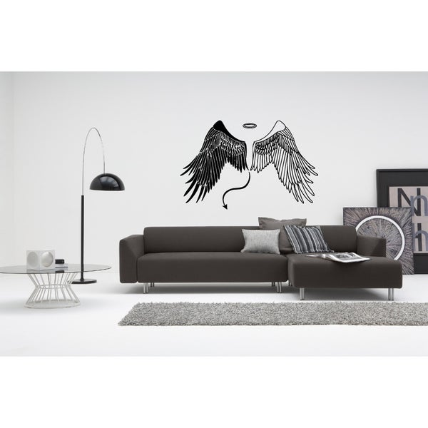 Wings of Angels & Demons Wall Art Sticker Decal