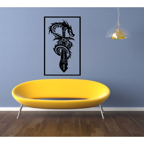The snake wound around a sword Wall Art Sticker Decal
