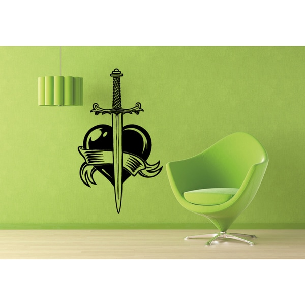 The Sword in the Heart Wall Art Sticker Decal