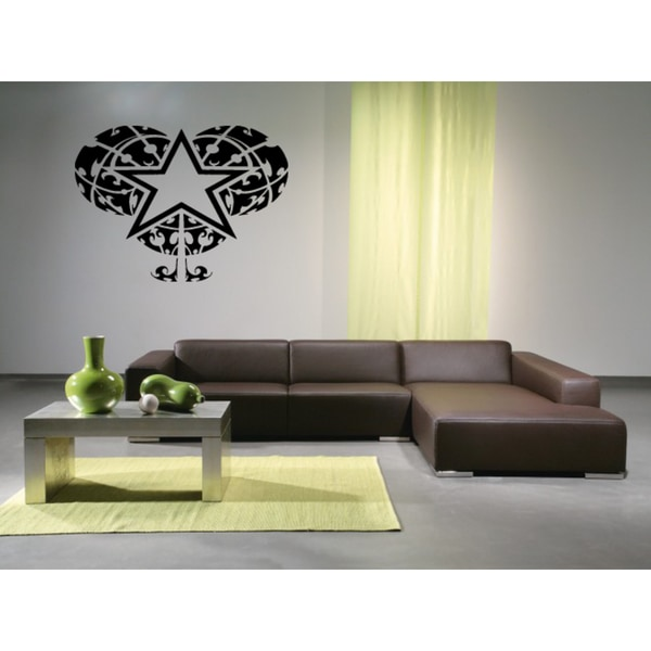 Star in Heart Wall Art Sticker Decal