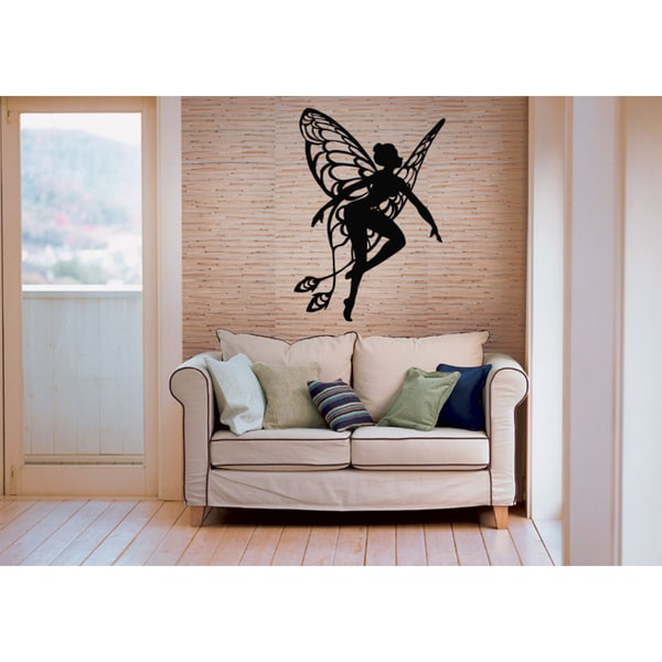 Fairy with wings dancing Wall Art Sticker Decal