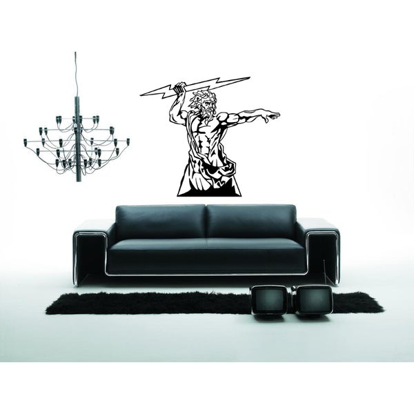 Zeus, God of War and thunder Wall Art Sticker Decal