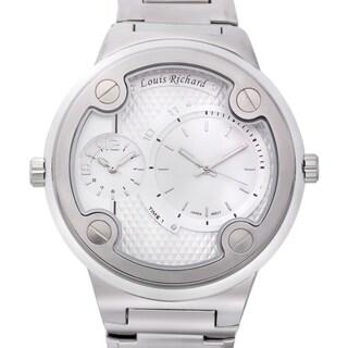 Louis Richard Men's Kelburn Multi-layered Diamond Patterned Dial Watch