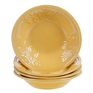 Certified International Binaca Gold Soup/Pasta Bowl 9.5-inch x 2-inch (Set of 4)