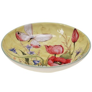Certified International Floral Bouquet Serving/Pasta Bowl 13-inch x 2.25-inch