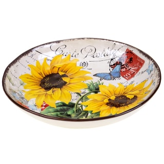 Certified International Sunflower Meadow Serving/Pasta Bowl 12.75-inch x 2.25-inch