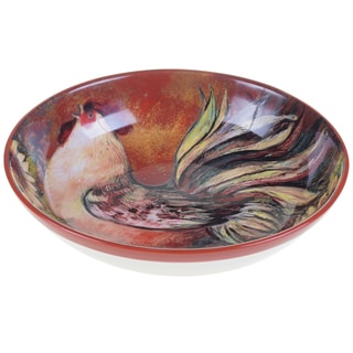Certified International Sunflower Rooster Serving/Pasta Bowl 13-inch x 3-inch