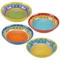 Certified International Valencia 9.25-inch Soup/Pasta Bowls (Set of 4) Assorted Designs