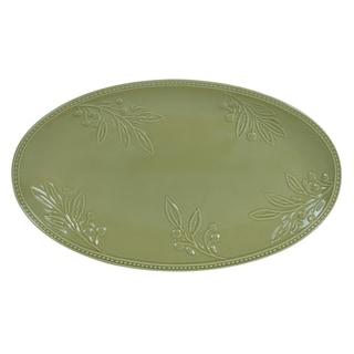 Certified International Bianca Green Oval Platter 18-inch x 11-inch
