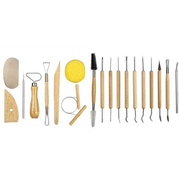 Pottery tool kit, deluxe 19 pieces
