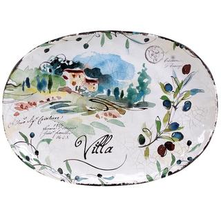 Certified International Villa Oval Platter 17.25-inch x 12.5-inch