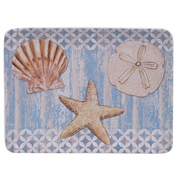 Certified International Spa Shells Rectangular Platter 16-inch x 12-inch