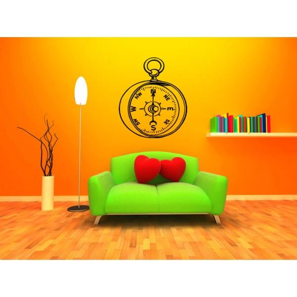 Stopwatch Compass Wall Art Sticker Decal 17635494