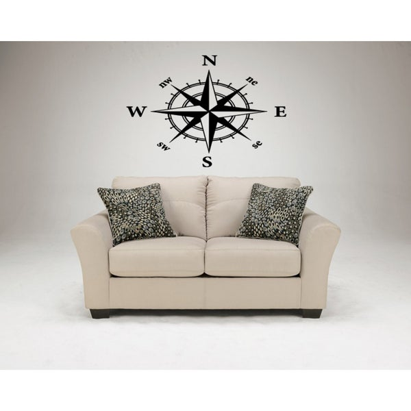 Compass North East West South Wall Art Sticker Decal