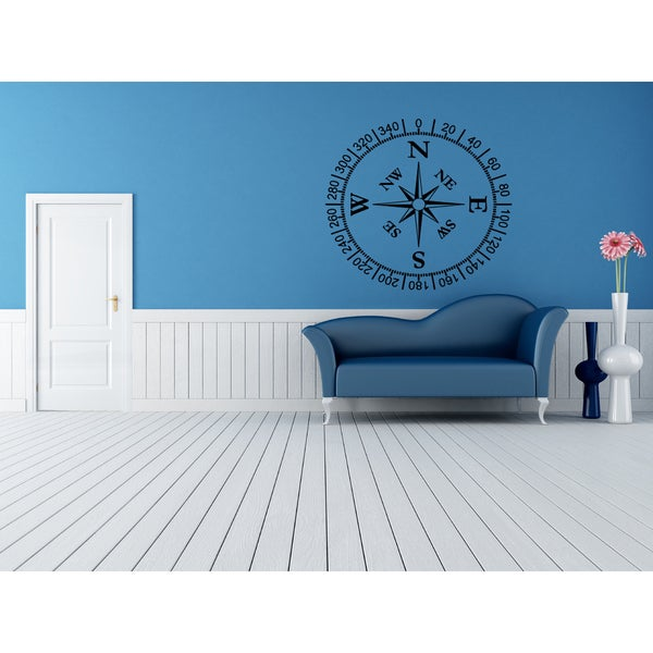 Compass Wall Art Sticker Decal 17635498