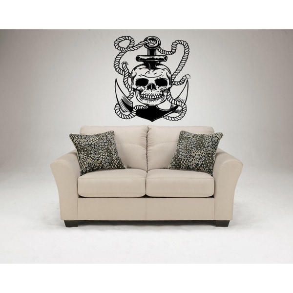 Anchor rope and skull Wall Art Sticker Decal