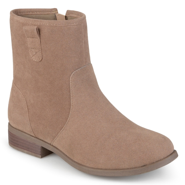 Journee Collection Women's 'Brit' Pull-on Faux Suede Booties
