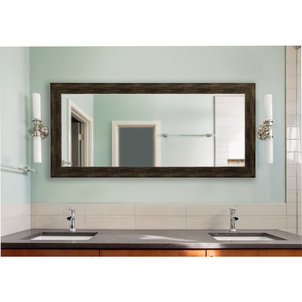 American Made Rayne Extra Large Brushed Classic Brown Mirror