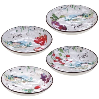 Certified International Villa 8.5-inch Soup/Pasta Bowls (Set of 4) Assorted Designs