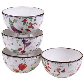 Certified International Villa 6-inch Ice Cream Bowls (Set of 4)