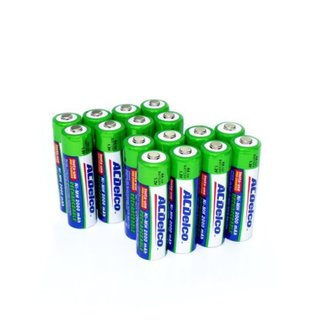 ACDelco AA NiMH Precharged Rechargeable Batteries, 16-Count