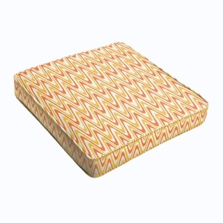 Citrus Waves Square Cushion - Corded