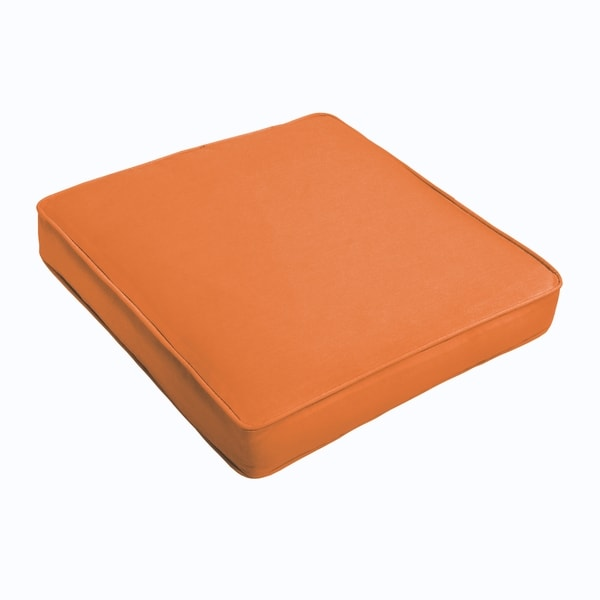 Sloane Bright Orange Square Cushion - Corded