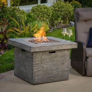 Christopher Knight Home Dakota Outdoor 32-inch Square Liquid Propane Fire Pit with Lava Rocks