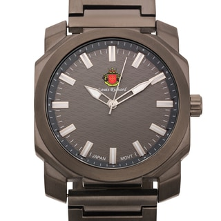 Louis Richard Men's Buchanan Grey Brushed Finish Ion-plated Metal Watch