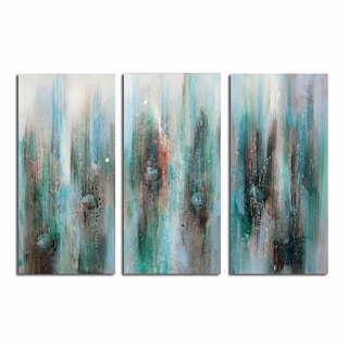 Hand-painted Seashells in Sea Abstract Canvas Art 1152