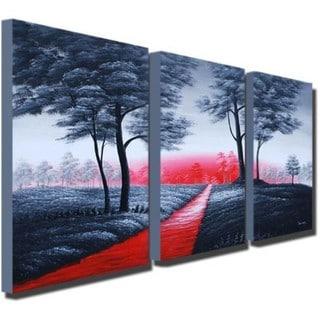 Hand-painted Grey Tree Artwork 737
