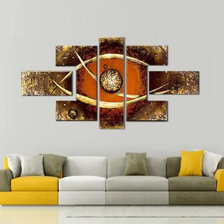 Hand-painted Brown Africa Eye Painting 434