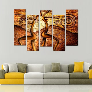 Hand-painted African Textured Art Painting 424
