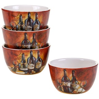 Certified International Private Reserve 5.25-inch Ice Cream Bowls (Set of 4) 2 Assorted Designs