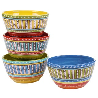 Certified International Valencia 5.25-inch Ice Cream Bowls (Set of 4) Assorted Designs