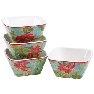 Certified International Tropics 5.25-inch Ice Cream Bowls (Set of 4)
