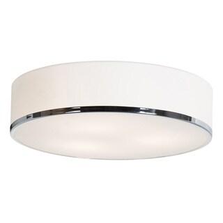 Access Lighting Aero 3-light 16 inch Chrome Flush Mount