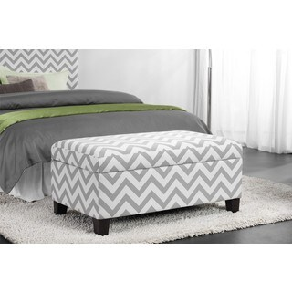 Dorel Living Chevron Storage Ottoman