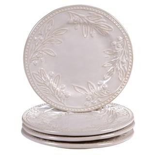 Certified International Binaca Ivory 8.75-inch Dessert Plates (Set of 4)