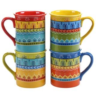 Certified International Valencia 16-ounce Mugs (Set of 4) Assorted Designs