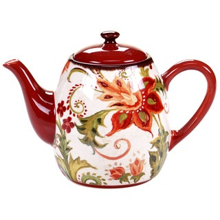 Certified International Spice Flowers Teapot 40-ounce