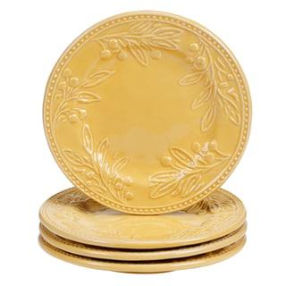 Certified International Binaca Gold 8.75-inch Dessert Plates (Set of 4)