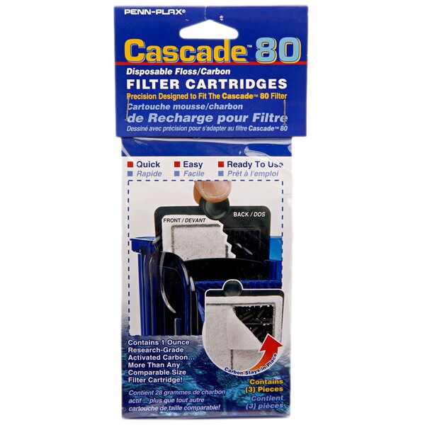 Penn Plax Cascade Hang-on Power Filter Replacement Cartridges (Pack of 9)