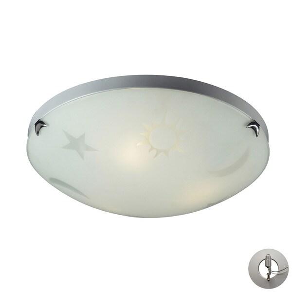 Elk Novelty 3-light Night Sky Flushmount in Satin White Glass with Recessed Lighting Kit 17637546