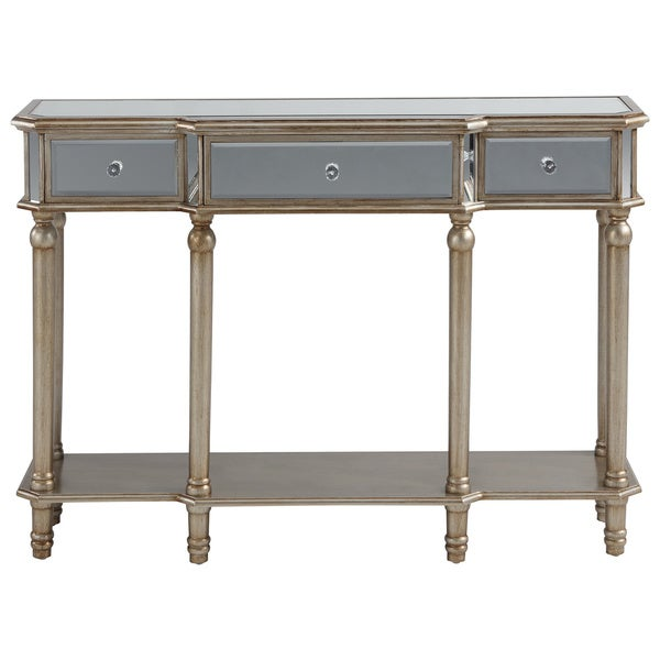 Eden mirrored console table 18405707 shopping great deals on coffee sofa - Mirrored console table overstock ...